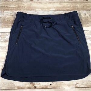 Athlete Zipper Pocket Drawstring Skort